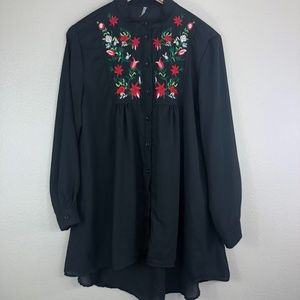 Lucky Embroidered Blouse